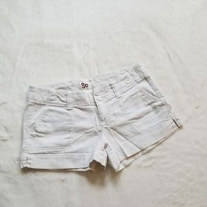 White SO Shorts